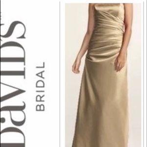David's Bridal Champaign Bridesmaid Prom Dress